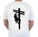 Lineman Climbing Pole T-Shirt $16.95 ($18.95 with pocket)